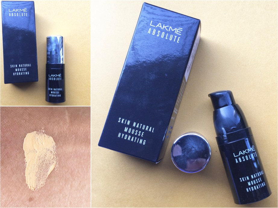 Lakme Absolute Skin Natural Hydrating Mousse Foundation Review, Swatches