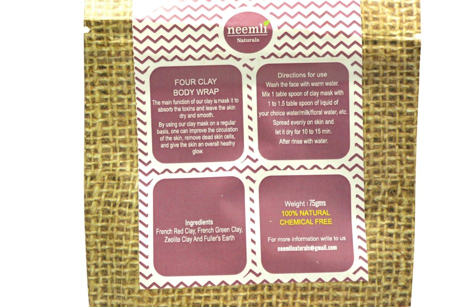 Neemli Four Clay Face Mask & Body Wrap Review Details