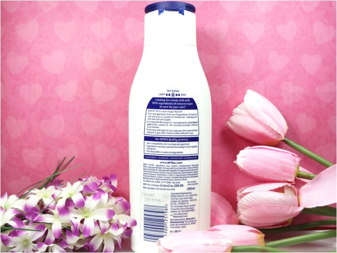 Nivea Oil in Lotion Argan Nourish Body Lotion Review Info