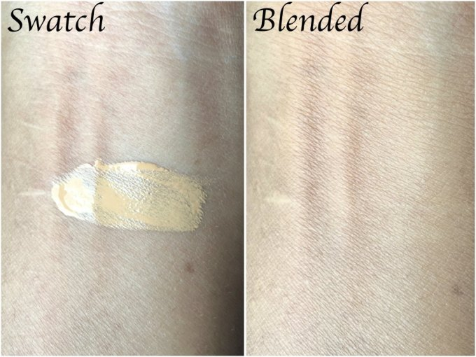 Smashbox Studio Skin 15 Hour Wear Hydrating Foundation Review, Shades, Swatches blended