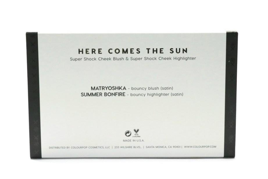 ColourPop Sonya Esman Here Comes the Sun Super Shock Cheek Palette Review, Swatches Matryoshka Summer Bonfire