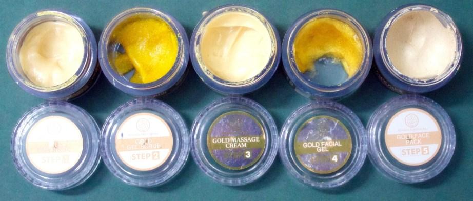 Khadi Gold Radiance Facial Kit Components