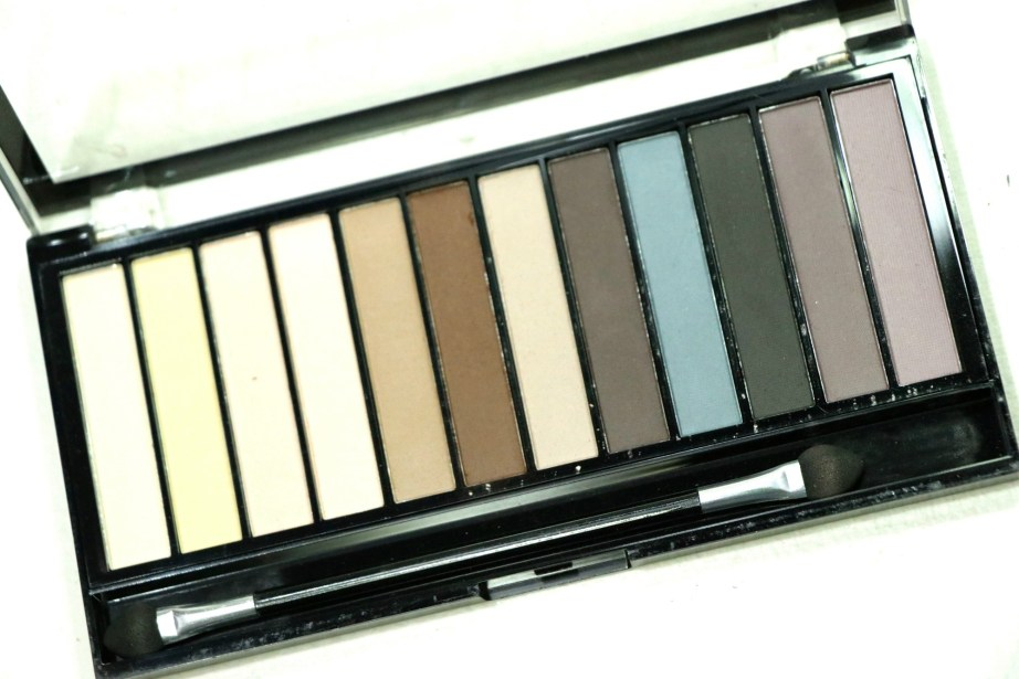 Makeup Revolution Essential Mattes Redemption Eyeshadow Palette Review, Swatches closeup