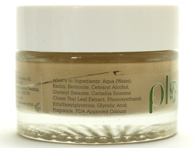 Plum Green Tea Clear Face Mask Review Ingredients
