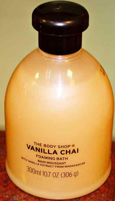 The Body Shop Vanilla Chai Foaming Bath Gel Review MBF