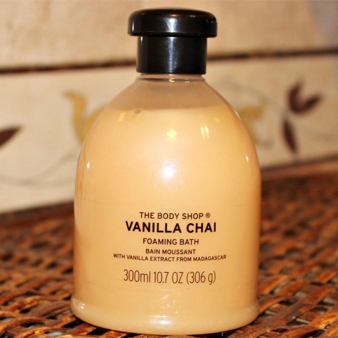 The Body Shop Vanilla Chai Foaming Bath Gel Review