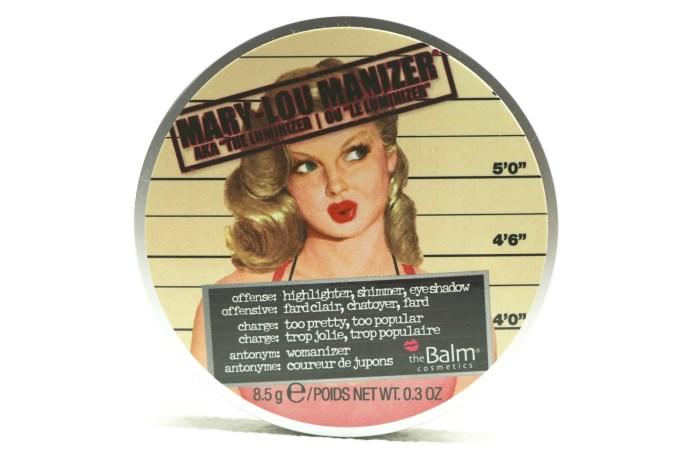 theBalm Mary Lou Manizer Review, Swatches front