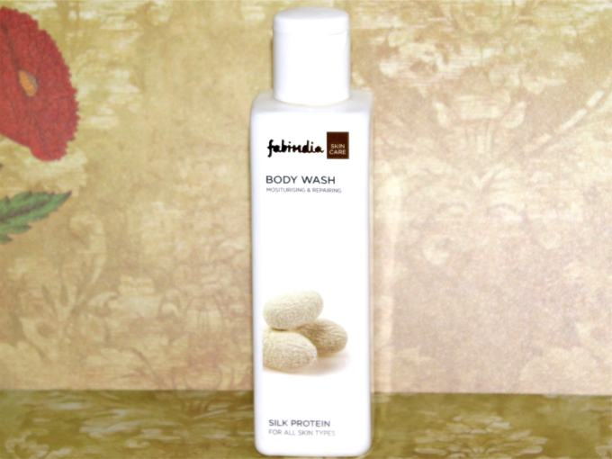 FabIndia Silk Protein Body Wash Review on mbf blog