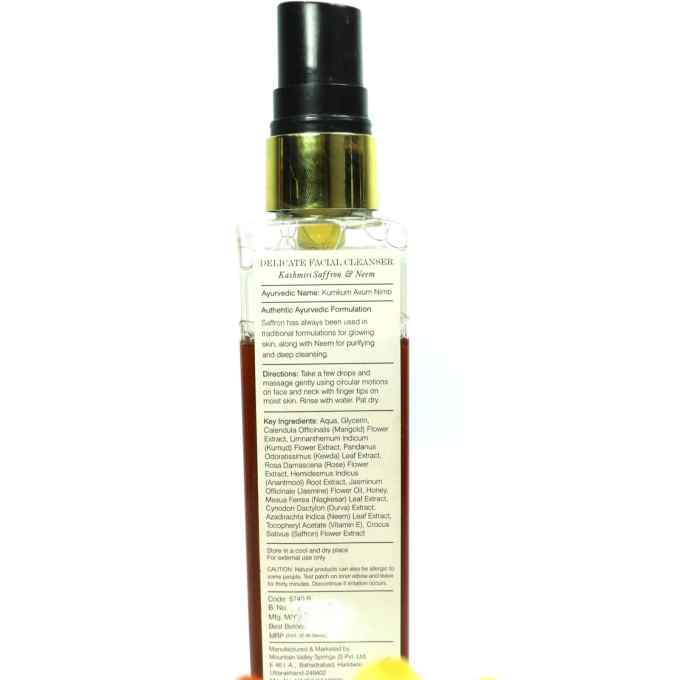 Forest Essentials Delicate Facial Cleanser Kashmiri Saffron & Neem Review Details