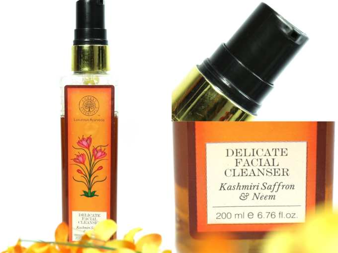 Forest Essentials Delicate Facial Cleanser Kashmiri Saffron & Neem Review MBF