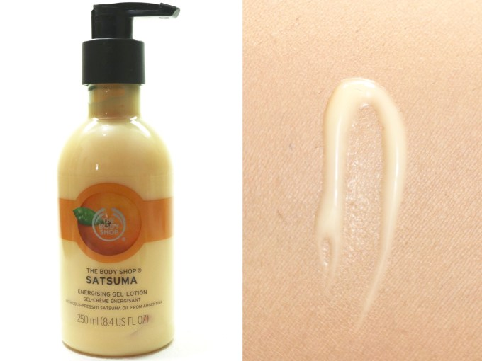 The Body Shop Satsuma Energising Gel Lotion Review Swatches