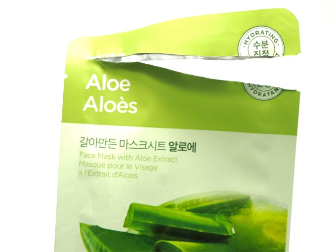 The Face Shop Real Nature Aloe Face Mask Review Open