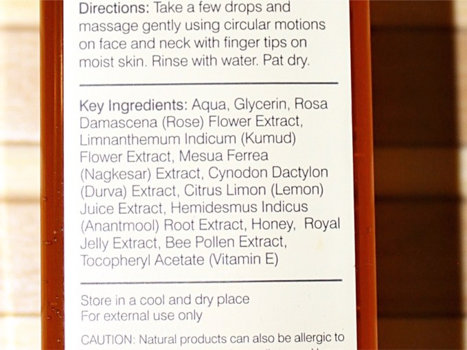 Forest Essentials Delicate Facial Cleanser Mashobra Honey, Lemon & Rosewater Review Ingredients