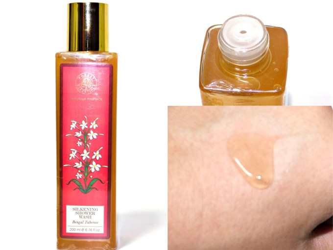 Forest Essentials Silkening Shower Wash Bengal Tuberose Review Swatches