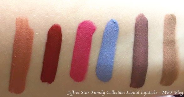 Jeffree Star Family Collection All Velour Liquid Lipsticks Swatches Nathan Wifey Diva Diamond Delicious Baby Daddy MBF Blog
