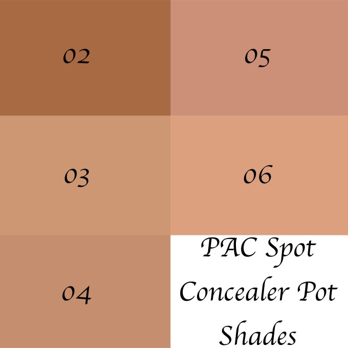 PAC Spot Concealer Pot Review, All Shades, Swatches