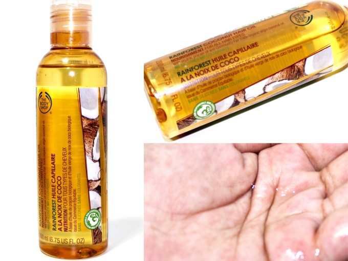 The Body Shop Rainforest Coconut Hair Oil Review Swatch