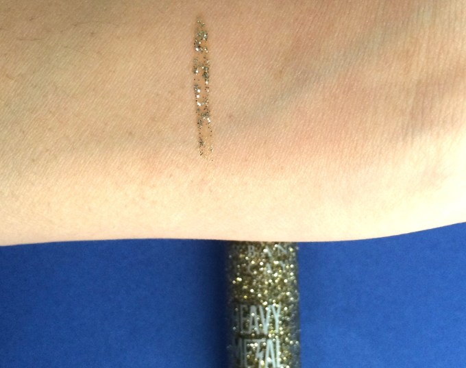 Urban Decay Heavy Metal Glitter Eyeliner Midnight Cowboy Review, Swatches Skin