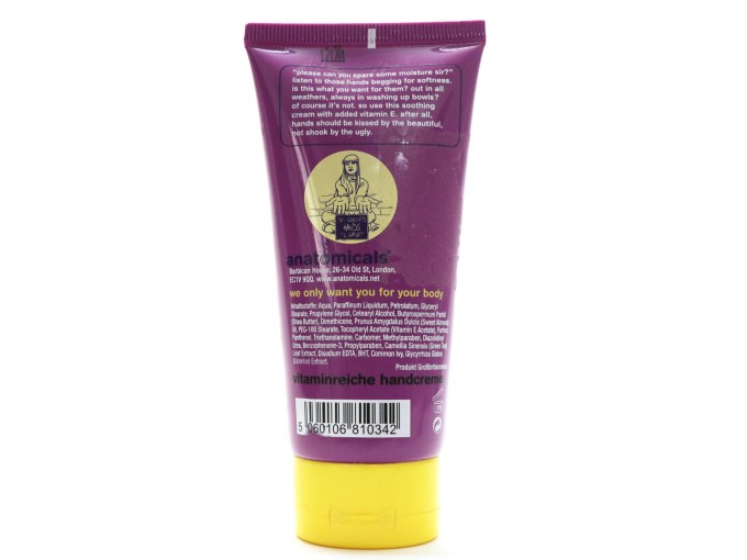 Anatomicals Help the Paw Vitamin Rich Hand Cream Review details