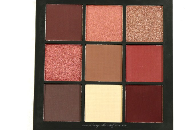Huda Beauty Mauve Obsessions Eyeshadow Palette Review, Swatches Close up MBF Blog