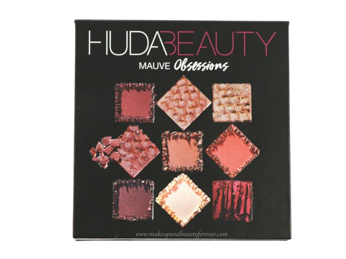 Huda Beauty Mauve Obsessions Eyeshadow Palette Review on MBF Blog Swatches