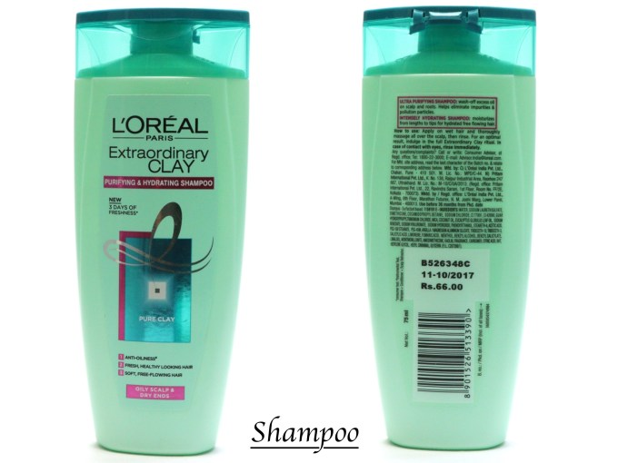 L'Oreal Extraordinary Clay Shampoo Review, Swatches