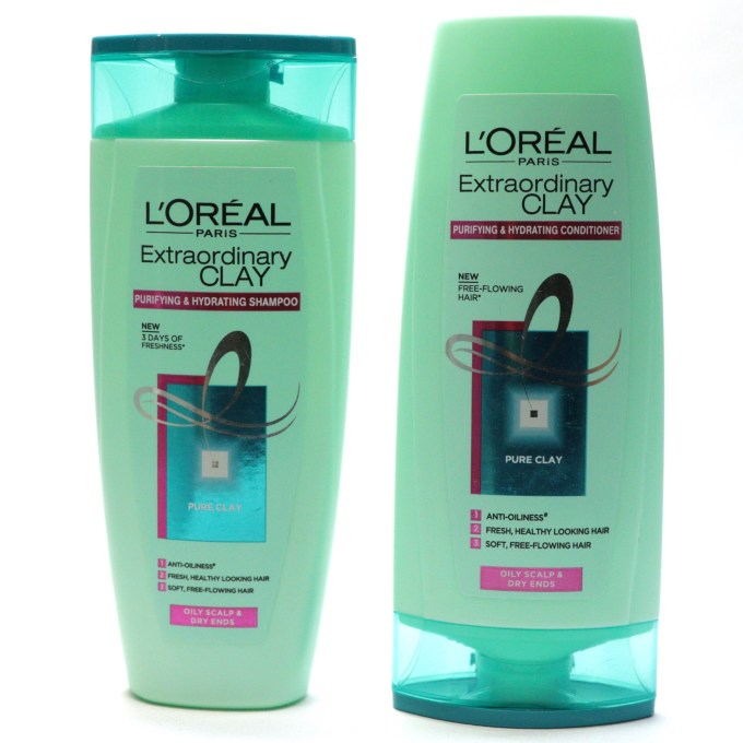 L'Oreal Extraordinary Clay Shampoo and Conditioner Review, Swatches