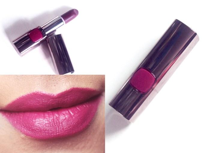 L'Oreal Plum Mannequin 235 Color Riche Moist Matte Lipstick Review, Swatches