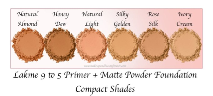 Lakme 9 to 5 Primer + Matte Powder Foundation Compact Review, Shades, Swatches All Shades