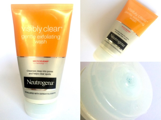 Neutrogena Visibly Clear Gentle Exfoliating Wash Review Swatches