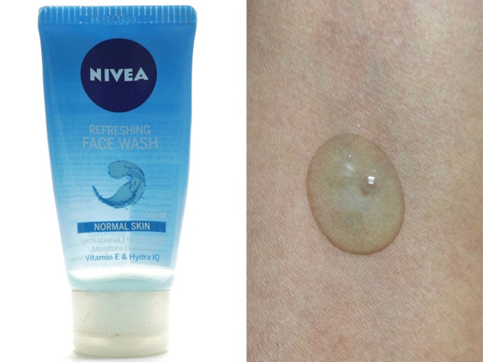 Nivea Refreshing Face Wash Review Swatch