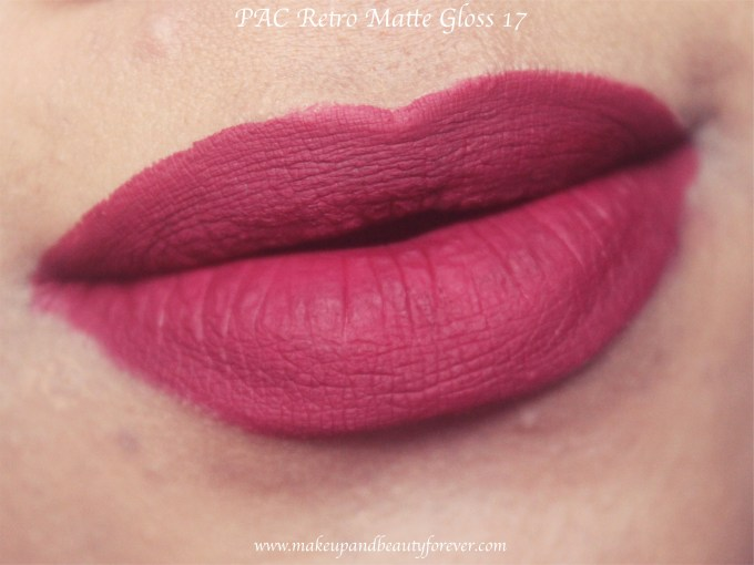 PAC Retro Matte Gloss 17 Review, Swatches Blog MBF