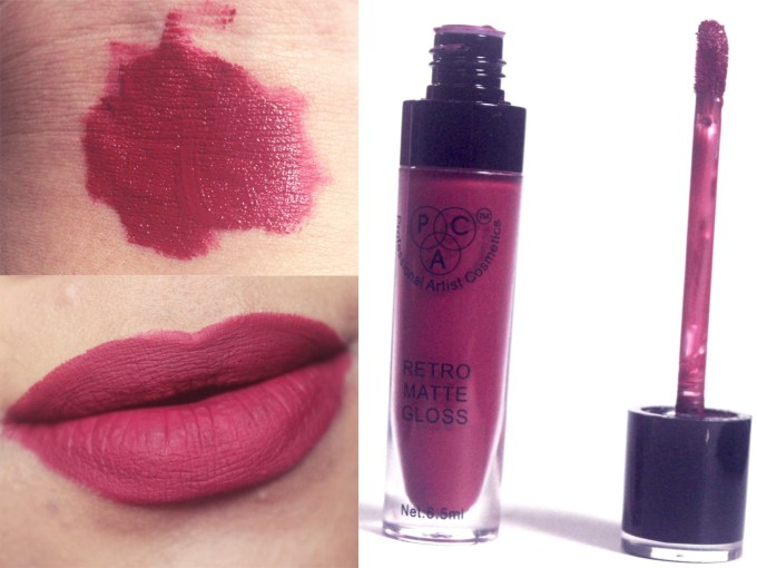 PAC Retro Matte Gloss 17 Review, Swatches blog