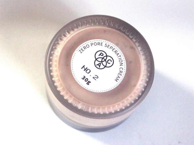 PAC Zero Pore Separation Cream Review, Shades, Swatches 02