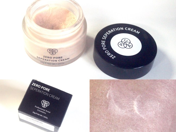 PAC Zero Pore Separation Cream Review, Shades, Swatches