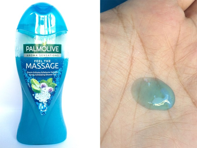 Palmolive Aroma Sensations Feel the Massage Gently Exfoliating Shower Gel Review swatches