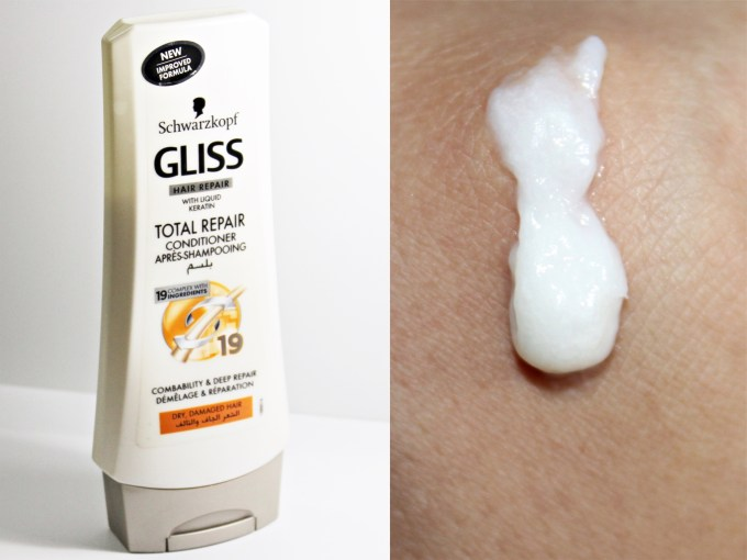 Schwarzkopf Gliss Total Repair Conditioner with Liquid Keratin Review Swatches
