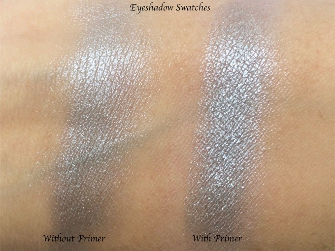 Smashbox 24 Hour Photo Finish Shadow Primer Review, Swatches, Demo eyeshadow without and with primer
