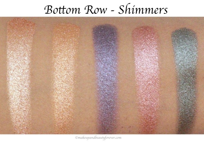 Sugar Blend The Rules Eyeshadow Palette Firework 02 Review, Swatches Bottom Row Shimmers