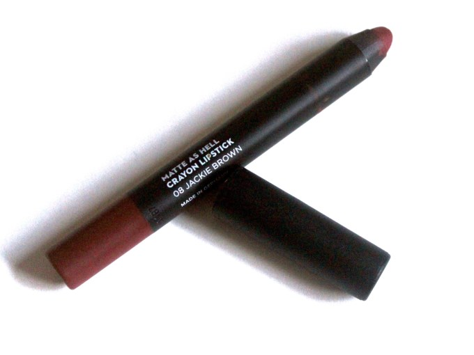 Sugar Jackie Brown 08 Matte As Hell Crayon Lipstick Review, Swatches MBF Blog