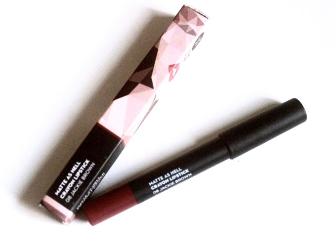 Sugar Jackie Brown 08 Matte As Hell Crayon Lipstick Review, Swatches MBF