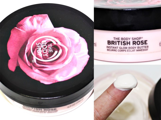 The Body Shop British Rose Instant Glow Body Butter Review MBF Blog