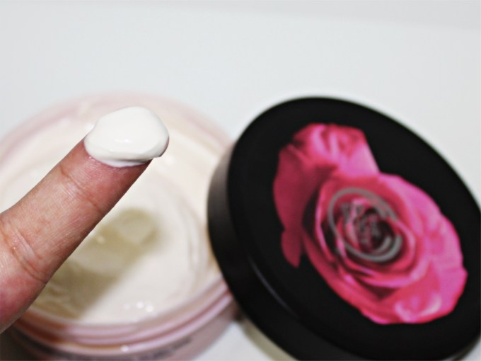 The Body Shop British Rose Instant Glow Body Butter Review Swatches