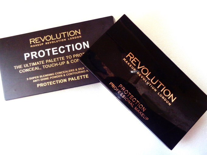 Makeup Revolution Protection Palette Review, Swatches packaging