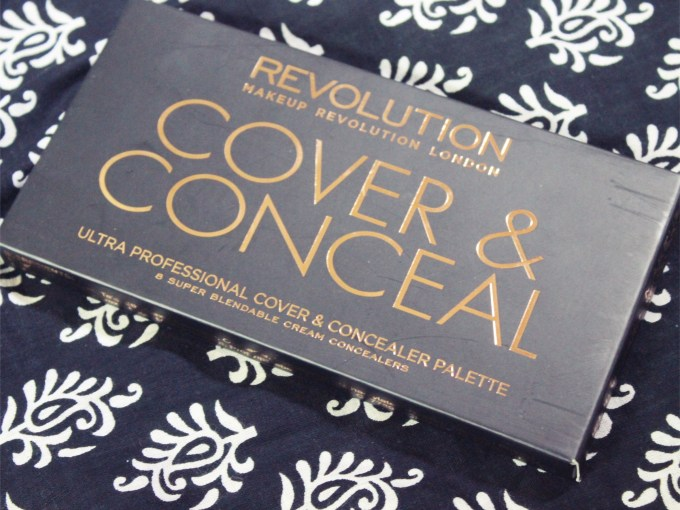 Makeup Revolution Ultra Cover and Conceal Palette Review, Swatches 1