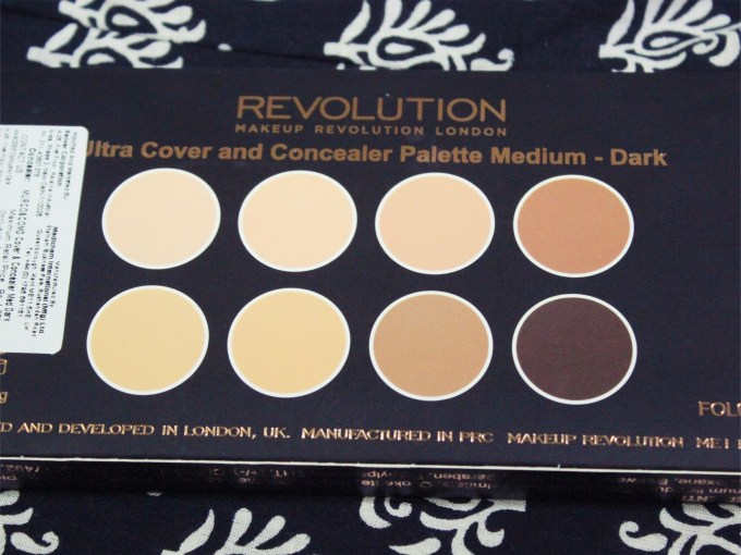 Makeup Revolution Ultra Cover and Conceal Palette Review, Swatches back