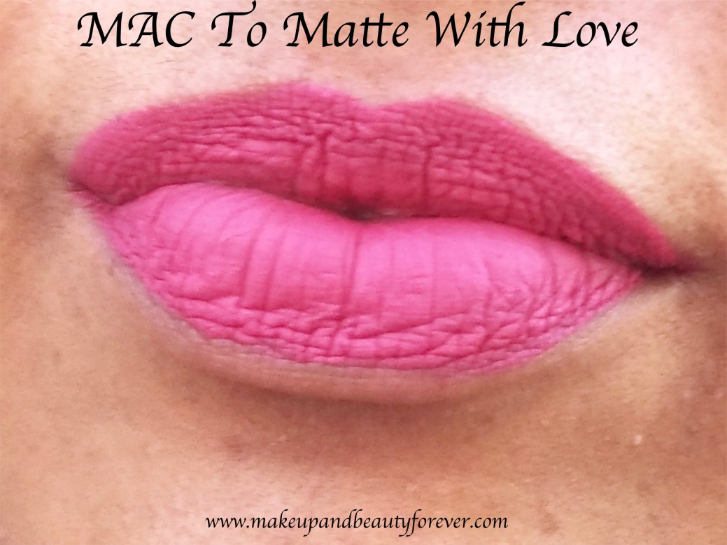mac to matte with love retro matte liquid lipcolour review swatches