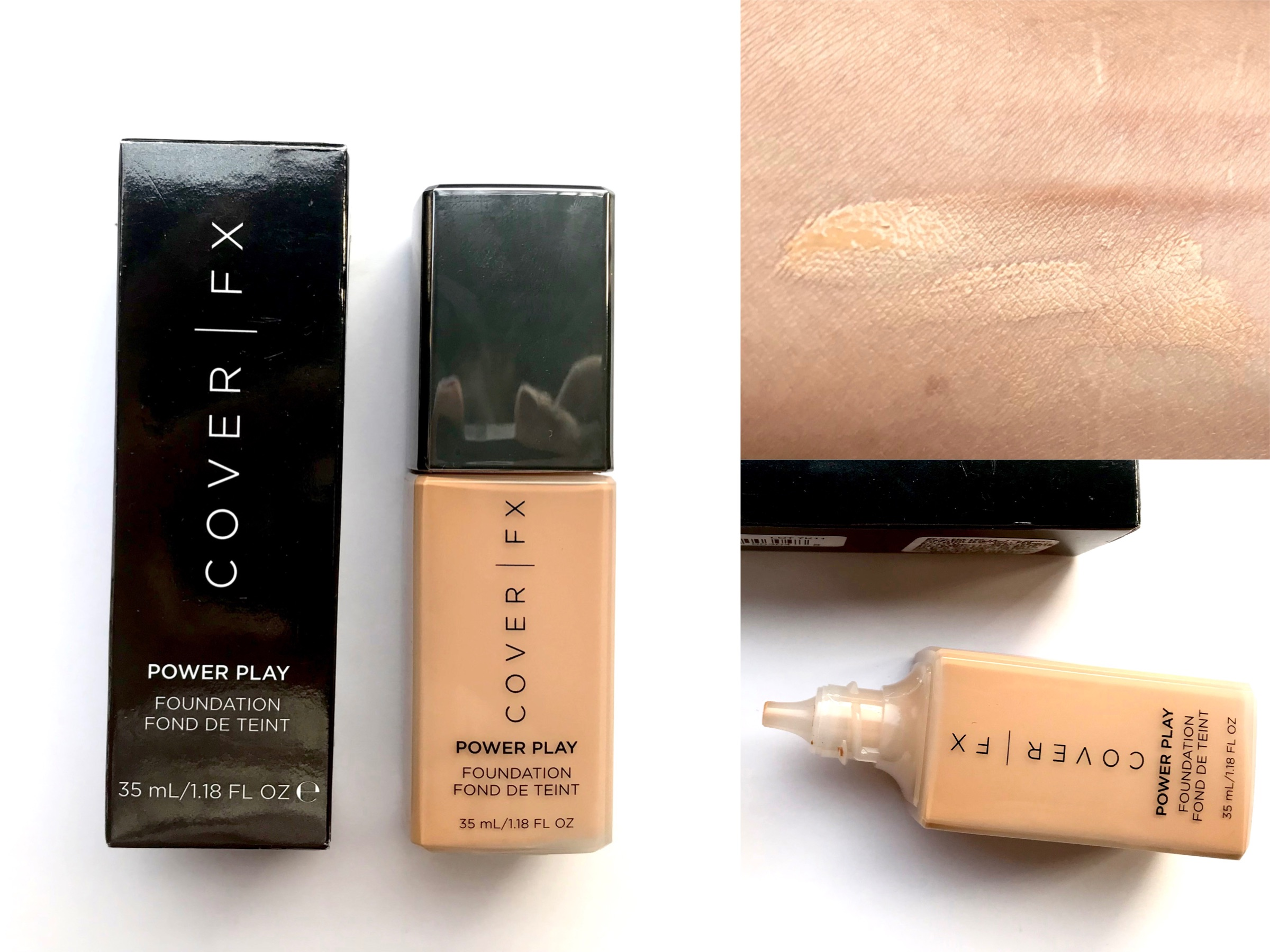 Cover Fx Power Play Foundation Review Swatches -