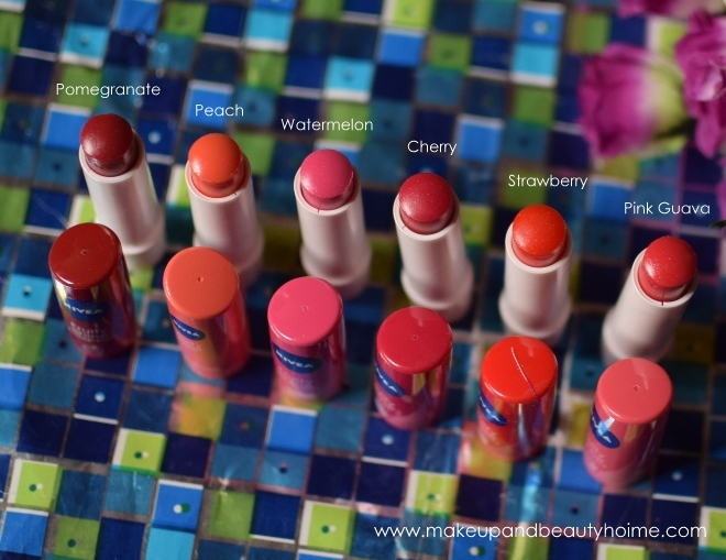 nivea fruity shine lip balms all six shades
