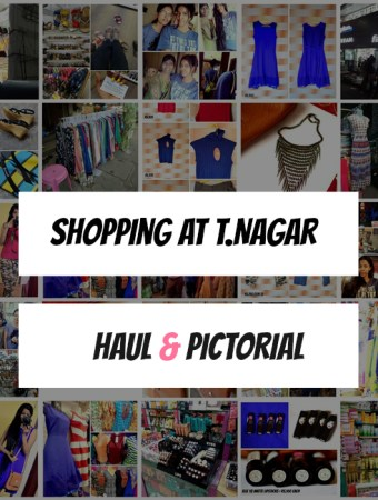 shopping at tnagar chennai, haul